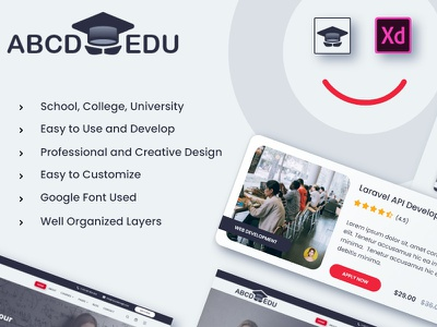 ABCD-EDU - Education and LMS Template learning university school college education