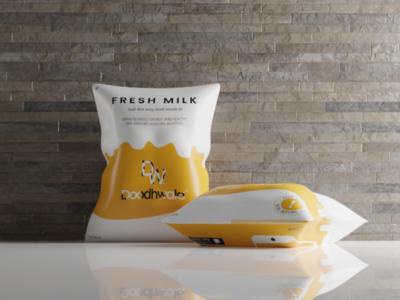 3D Packaging Mockup packaging milk poultry app