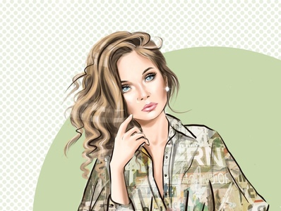 Fashion portrait girl portrait girl illustration drawing illustration fashion illustration fashion portrait