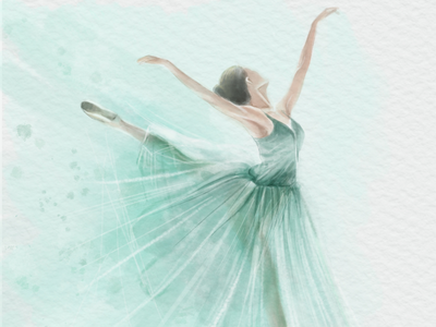 Ballet ballerina ballet drawing illustration watercolor