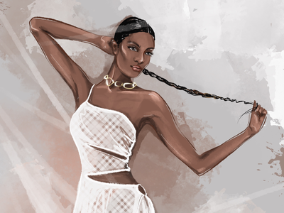 White dress dress white lady woman illustrators illustration fashion