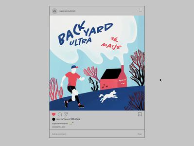 trail running illustration (IG post design) digital art graphic art graphic design illustraion