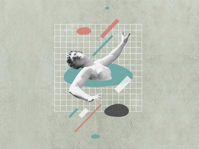 drowning design digital design digital art collage
