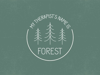 forest therapy monoline illustration monoline adobe illustrator design graphic design graphic art art digital art