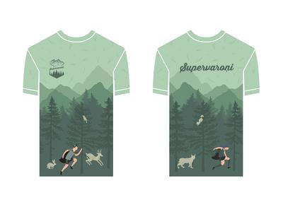 trail running team t-shirt design digital design adobe illustrator illustration graphic design graphic art art digital art