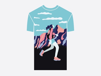 running t-shirt design design graphic design graphic art procreate illustration art digital art