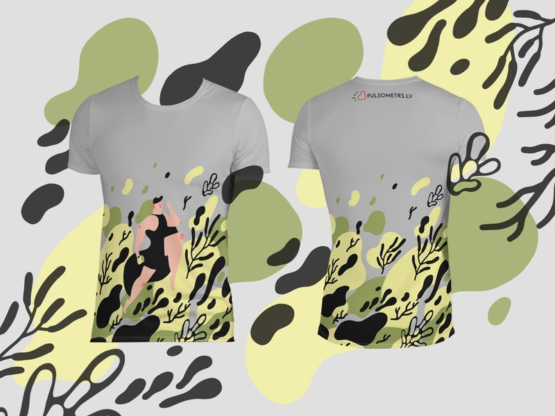 running shirt design sports outfit pattern print adobe illustrator graphic art graphic design design illustration art digital art procreate