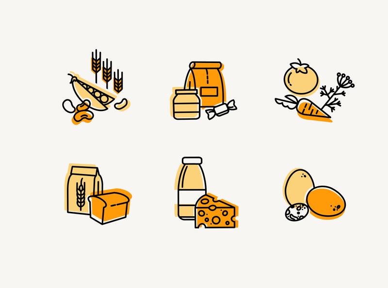 food icons monoline food icons food icon set icons graphic art illustration digital art graphic design