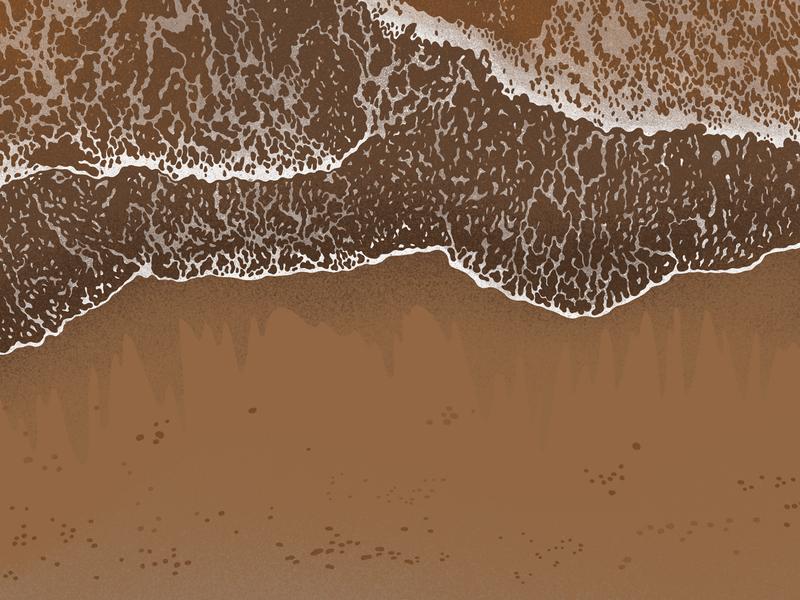 sea nature marine sea digital painting procreate illustration art digital art