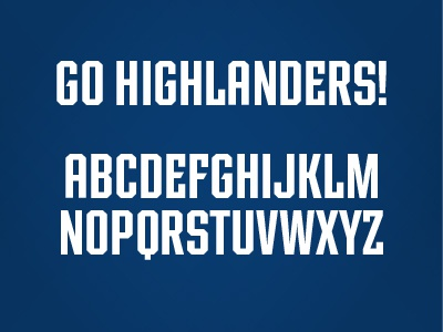 Radford Font font radford highlander athletic sports college