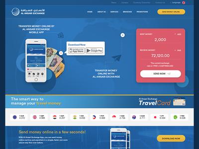 Currency exchange web design