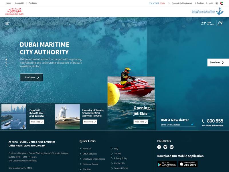 Maritime ux design uidesign tourism sea webdesign website