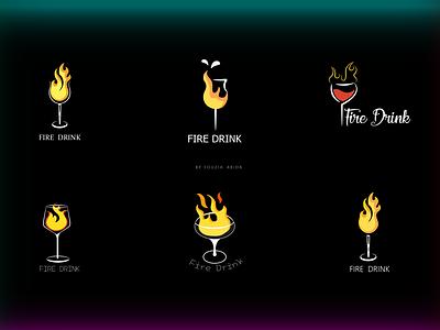 Fire Drink illustration/logo/icons logodesign drink glasses glass fireart fire logos vector painting design logo digital illustration digitalart illustraion illustration art hand drawn illustration