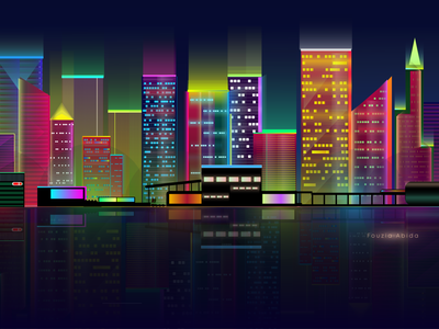 Glowing city illustration lights light creativity glows illustrations city illustration city branding city glowing glowy creative design colorful glow creative digital illustration color digitalart illustration art digital art illustration