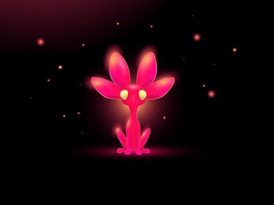 Conejita -NVIDIA-STUDIO-Challenge - glowing illustration pink lightning light 3d modeling 3d art 3d glossy glow in the dark glowing glows glowy digitalart digital illustration creativity color colorful glow illustraion digital painting illustration