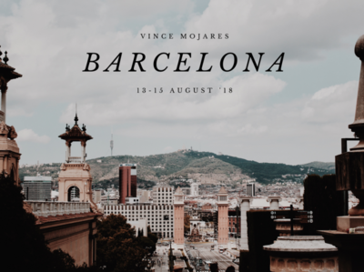 Barcelona Travel Thumbnail visual design film thumbnail videography poster art visual minimal design branding