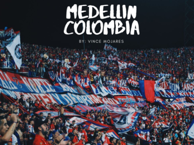 Medellin Travel Film Thumbnail colombia travel thumbnail videography poster art visual minimal design branding