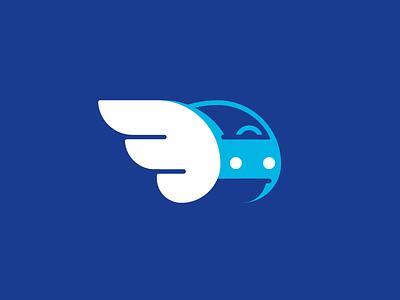 Fibonac-Car logo brand service light blue free wing fibonacci car logo