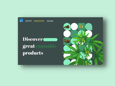 Cannabis Website food app design web e-commerce weed cannabis ui