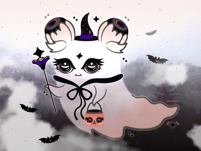 Boo! magical wizard ghost happyhalloween spooky halloween