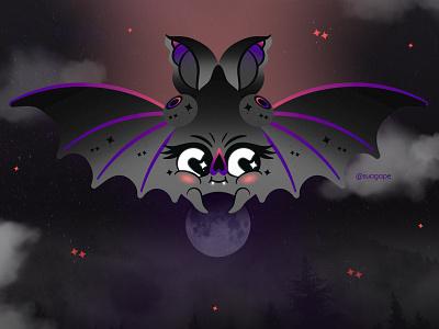 Moon Keeper! magical spooky halloween stars moon night bat vampire