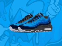 Air Max 95 True Blues