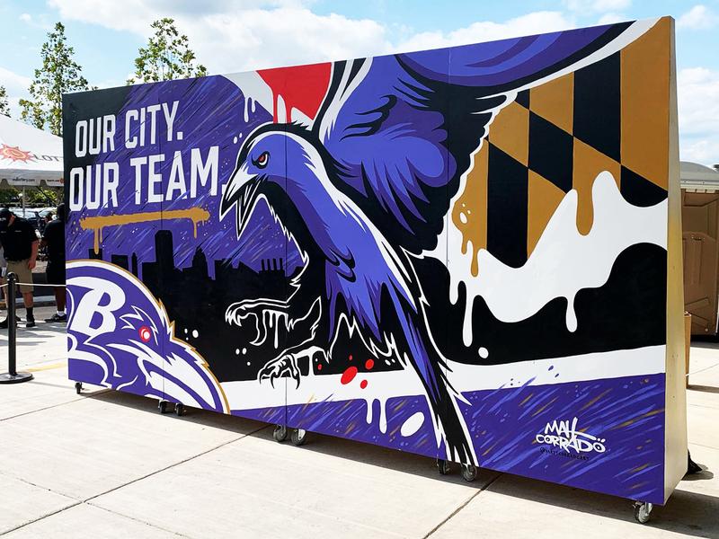 Baltimore Ravens Mural