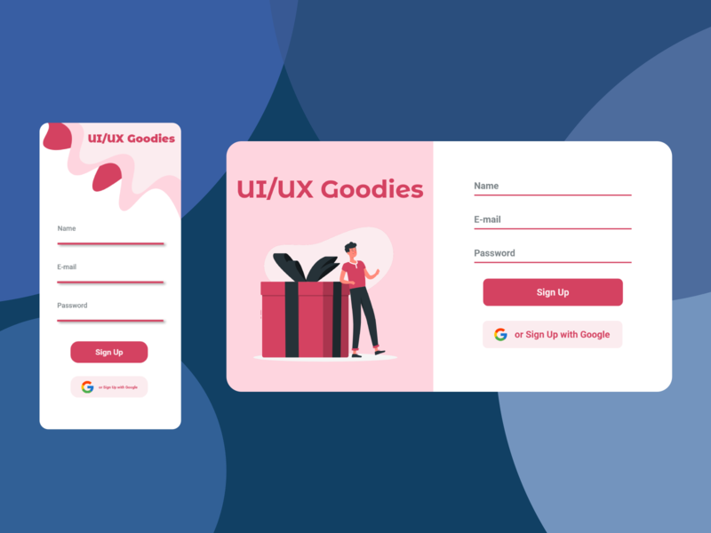 UI/UX giveway flat illustration website minimal app web ui design