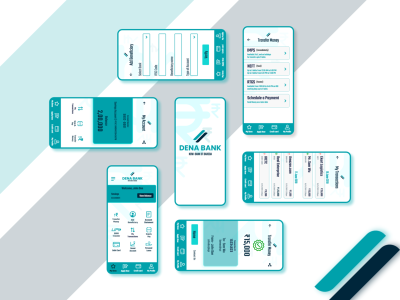 Banking App Redesign appdesigner mobile ui mobile app application bankingapp appdesign vector branding logo illustration flat ui dailyui dribbble adobexduikit design