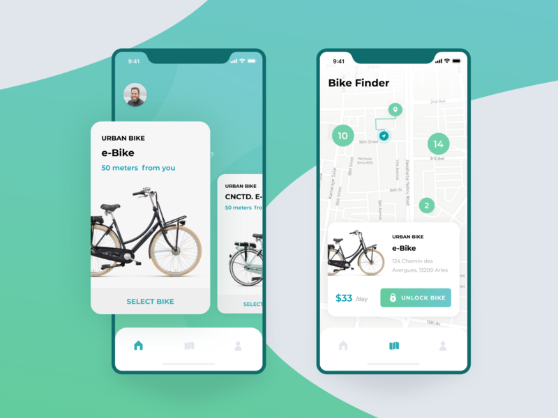 Map - Daily Ui #029 bicycle bike sharing map bike dailyui 029 app mobile mobile app vector ui design daily ui challenge dailyui challenge dailyui