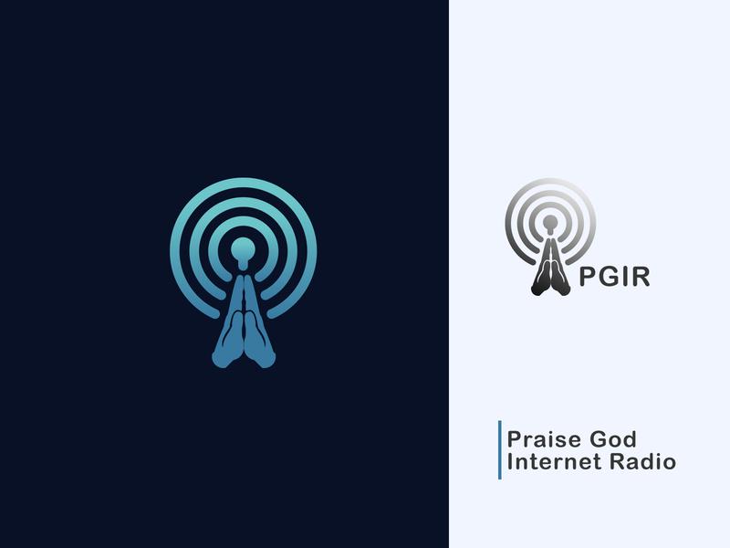 Praise Internet Radio By AnderTheCreator app vector icon design minimal logo