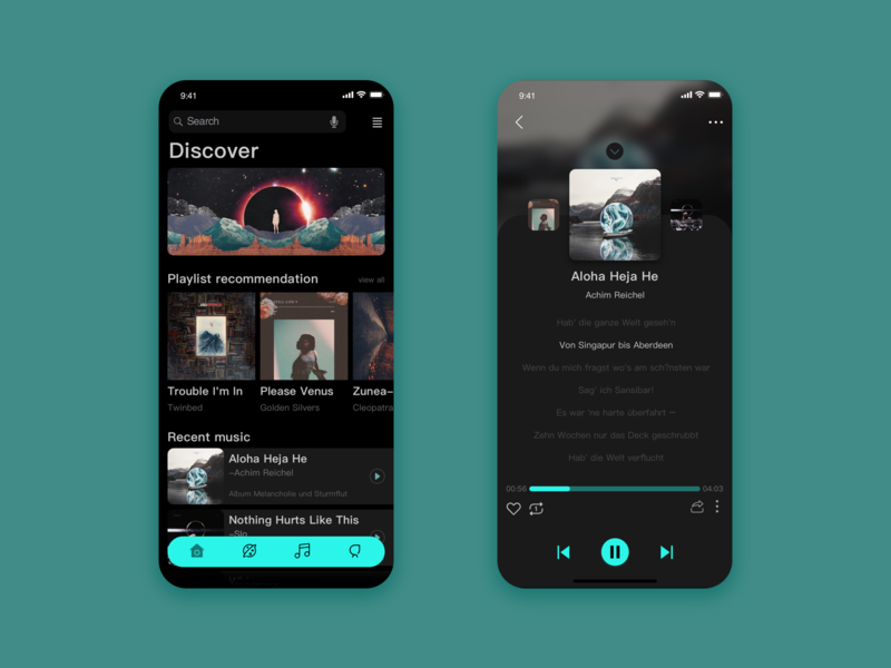 Music APP interface exercise music app ux ui design
