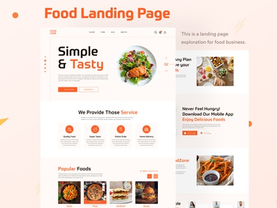 Food Business Landing Page design landing page design landing page graphic design website design food website food ui food landing page ux ui food recipie food business food delivery restaurant food