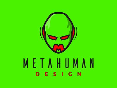 Check my new Logo! 2021 Metahuman design logo. brand strong bold superhero green branding illustrator graphic metahumandesign vector