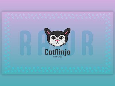 Cute Angry Cat - #testlogo @MetahumanDesign kids sports angry cute cat graphic vector design logo