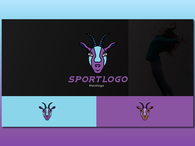 SportLogo - Goat - #testlogo illustrator gym concept animal goat visual illustration branding blue graphic metahumandesign vector design logo