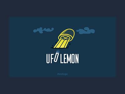 UFO Lemon #testlogo branding graphic metahumandesign yellow lemon clouds space ufo alien et vector design logo