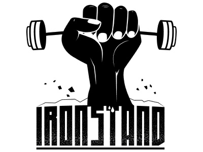 Ironstand fill version calisthenics workout gym zombie idurlacu ironstand apparel clothing sport aggresive white black