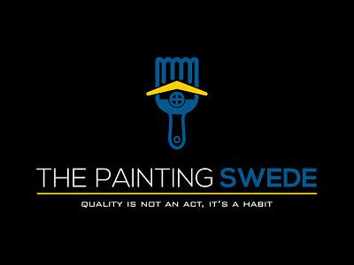 Logo for Interior/Exterior Painting Company company painting design interior blue identity mark logo