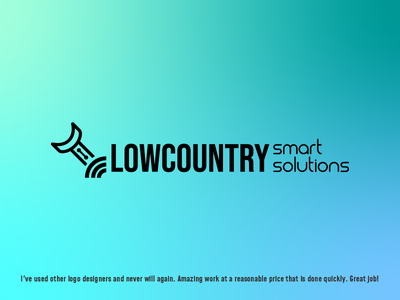 Lowcountry smart solutions illustrator blue design metahumandesign vector logo technician it tech minimal