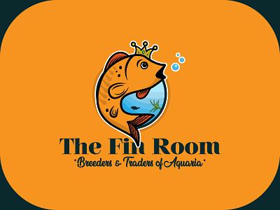 The Fin Room graphics branding illustrator metahumandesign graphic vector fish design logo