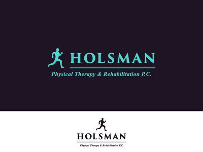 Holsman Logo Redesign trajan typography logo branding graphics blue metahumandesign design turquoise hospital clinic therapist physical therapy therapy vector physical