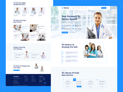 Medico - Medical website template uiux home page hospital landing page doctor landing page landing page web design pandemic virus corona covid-19 covid coronavirus patient clinic health healthcare hospital medicine doctor medical website