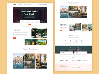 Real Estate agency Landing Page agency uiux property marketing real estate agent real estate agency real estate logo web site landing page property sell property buy property rent property management apartment real estate madrid realtor realestate realty property