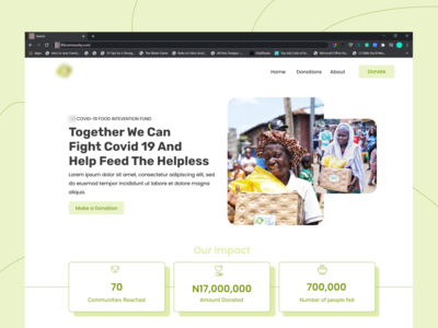 LFD Covid_19 Intervention Fund figmadesign firstshot donation landing page design relief ux data impact design product design covid-19 covid community landingpage ui
