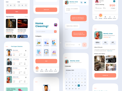 Cleaning Service Mobile App app designer ios app design ios app cleaning services cleaning company freelancer home services home service clean ui cleaning app clean design cleaning cleaning service ui booking system app ui mhmanik02 devignedge app design app