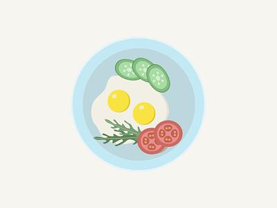 salad plate ruccola tomato eegs salad