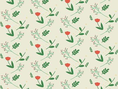 Pattern of flower branding ui logo design flower plant illustration wallpepper