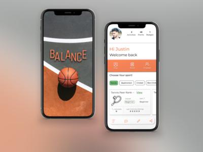 SPORTS APP app ui design