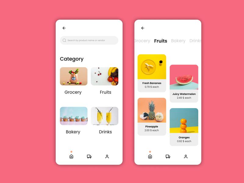 ONLINE GROCERY STORE APP UI uitrends uidesign ux ui design app